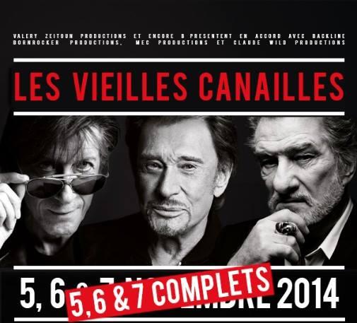Johnny Hallyday, Jacques Dutronc & Eddy Mitchell à Paris-Bercy  10336710