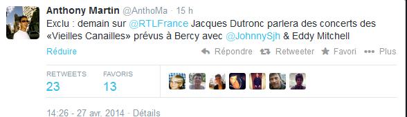 Johnny Hallyday, Jacques Dutronc & Eddy Mitchell à Paris-Bercy  Captur76