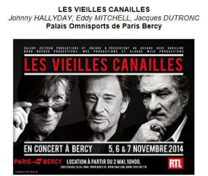 Johnny Hallyday, Jacques Dutronc & Eddy Mitchell à Paris-Bercy  Captur77
