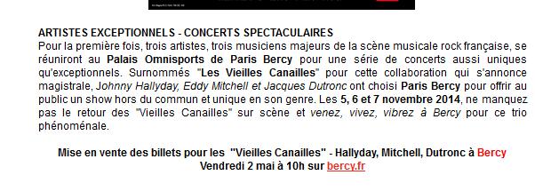 Johnny Hallyday, Jacques Dutronc & Eddy Mitchell à Paris-Bercy  Captur78
