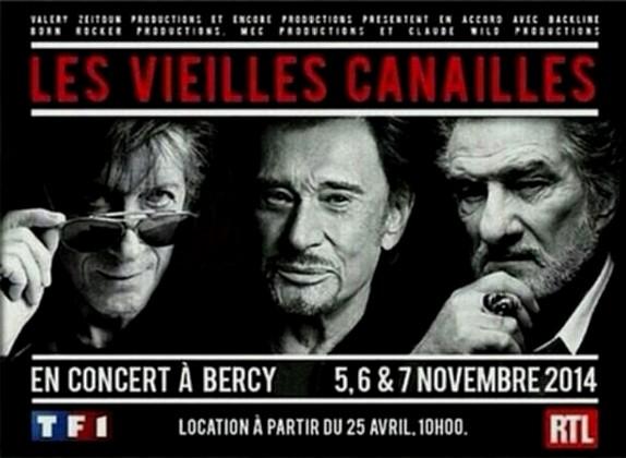Johnny Hallyday, Jacques Dutronc & Eddy Mitchell à Paris-Bercy  Photo_10