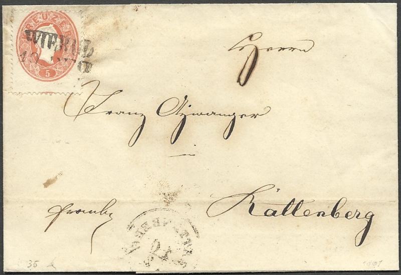 Die Freimarkenausgabe 1861 1860_a10