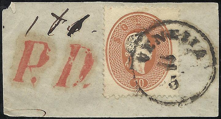 Lombardei-Venetien, Ausgabe 1861/62 1861_l10