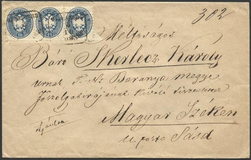 Die Freimarkenausgabe 1863/1864 1863_d10