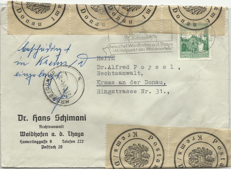 Österreichische Postamt Marken Bescha10