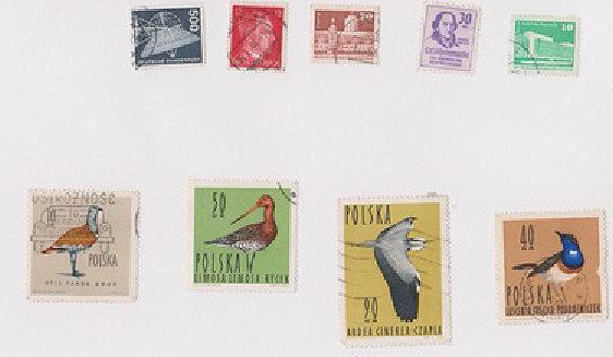 Deutsche/polnische Briefmarken Briefm10