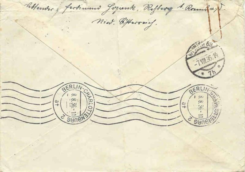 Flugpost mit Bahn befördert Briefr10