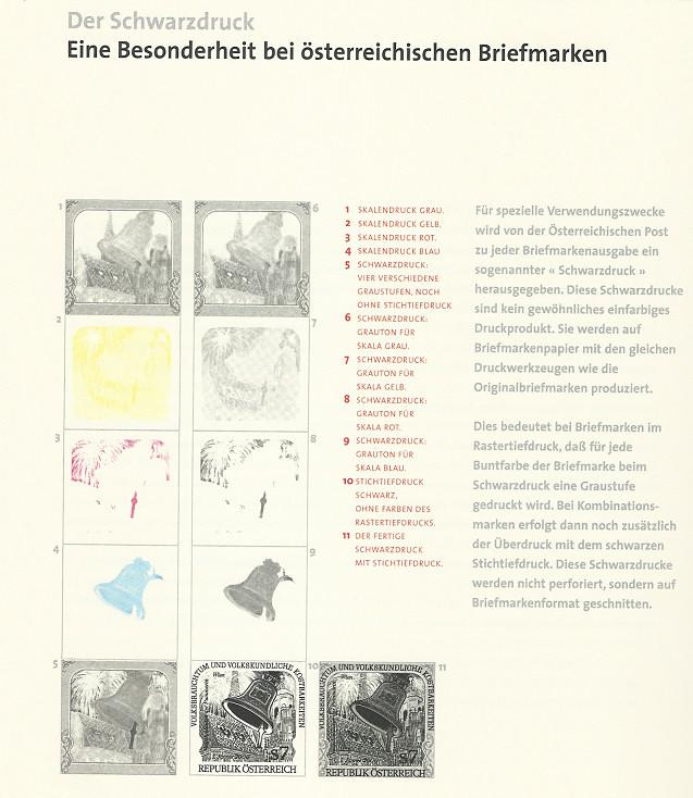 Österreich - Specimen, Schwarzdrucke, Buntdrucke Buchau10