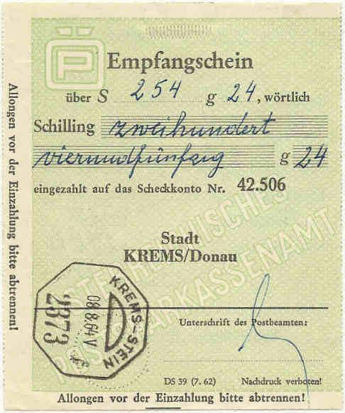 Bezirks-Stempel Empfan10