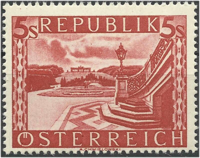 Landschaftsbilder Schillingausgaben ANK 767 - 774 Linien15