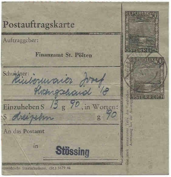 Postaufträge der Finanzämter Postau11
