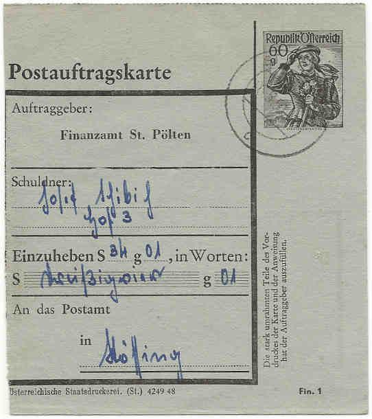 Postaufträge der Finanzämter Postau12