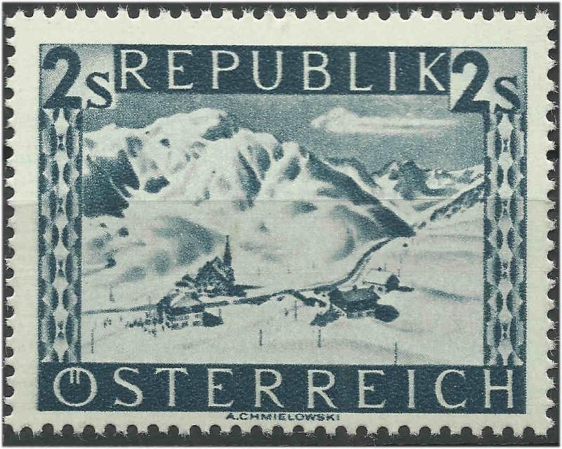 Landschaftsbilder Schillingausgaben ANK 767 - 774 Rakelt14