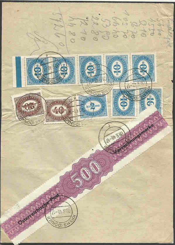 Zustellkarten für Post(Zahlungs)anweisungen Verrec10