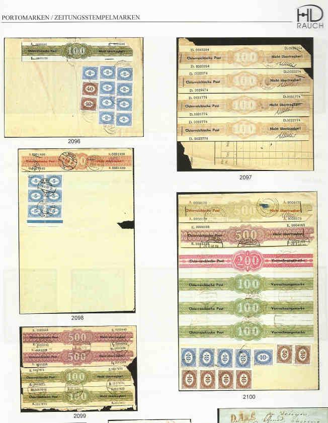 Verrechnungsmarken Österreich 1948 Verrec11