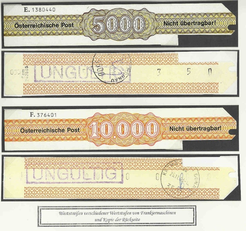Verrechnungsmarken Österreich 1948 Wertst11