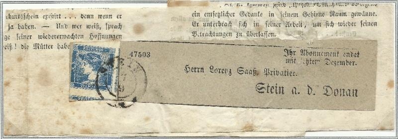 DIE ZEITUNGSMARKEN AUSGABE 1851 Zeitun10
