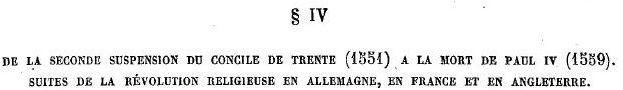 Le Saint Concile de Trente : Table des matières Iv10