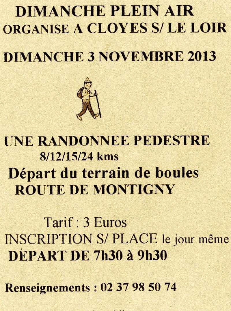 Randonnée  Cloyes/ S/ le Loir 3 novembre 89215410