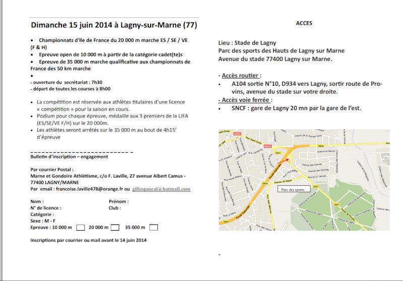 Championnats d'Ile-de-France du 20 000 m le 15 juin Gondoi10