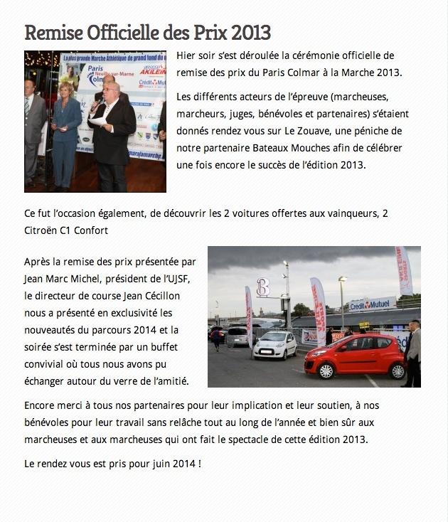Remise des Prix de PARIS -COLMAR 2013 Offici10