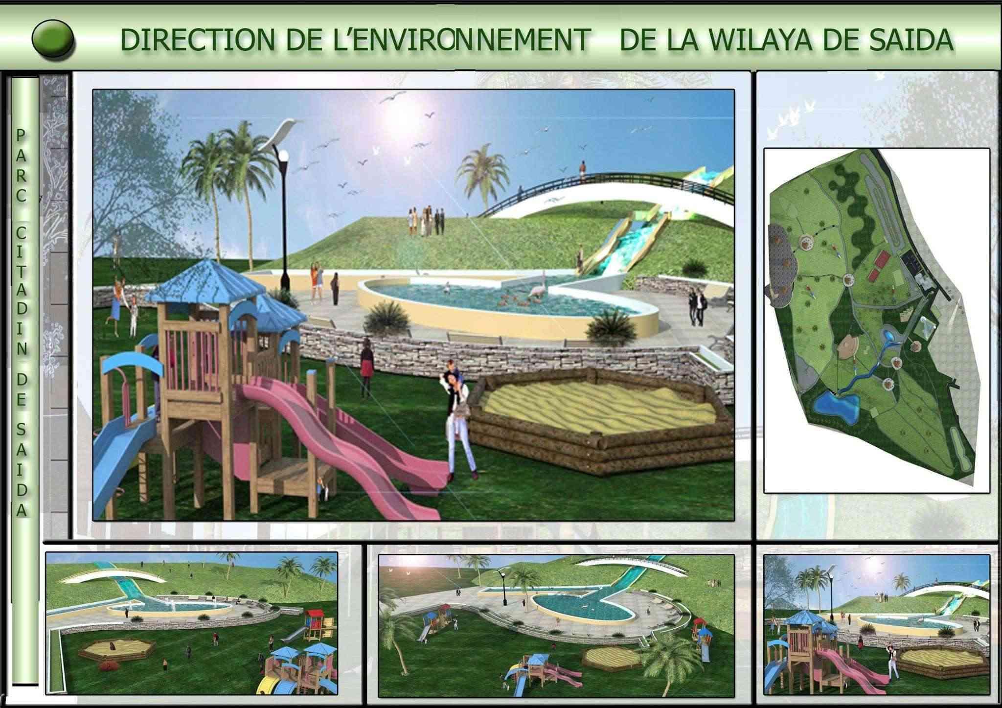 Le parc citadin d'El Bordj SAIDA Tt210