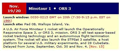 Lancement Minotaure-1 • ORS-3 (19.11.2013) Sans_t32