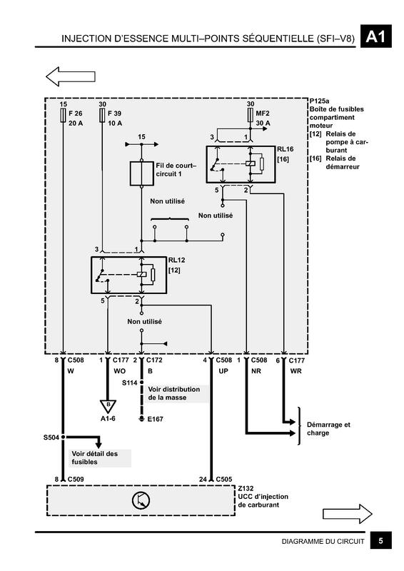 Schéma électrique pompe essence v8 Sch110