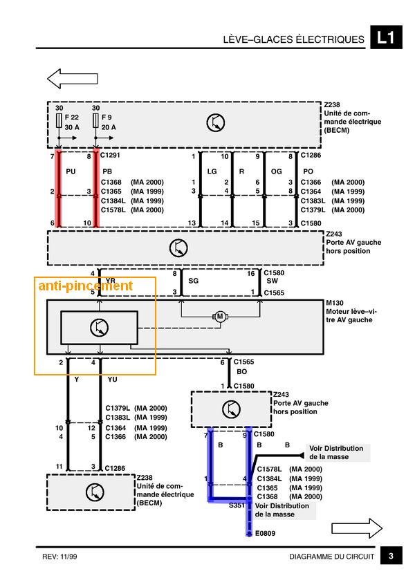 probléme vitre avant conducteur, centralisation Schmvi11