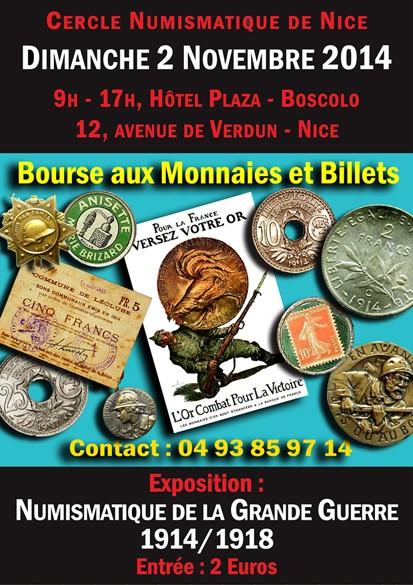 39e Bourse/Exposition du Cercle Numismatique de Nice ... Affich10