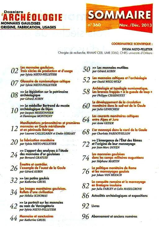 Dossier Archéologie N°360 Nov/Déc 2013 Archao11