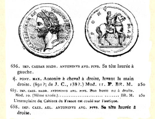 Médaillon décoratif d'Antonin le Pieux ... Cohen_11