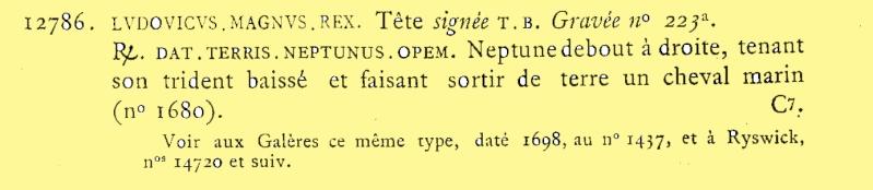 """Jeton Royal Louis XIV """"DAT TERRIS NEPTUNUS OPEM"""" Feuard11"""