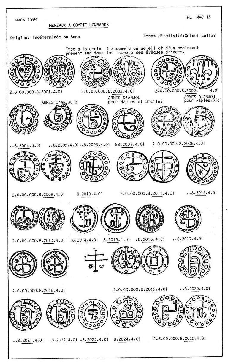 Méreau des évèques de Saint Jean d'Acre , orient latin Mereau10