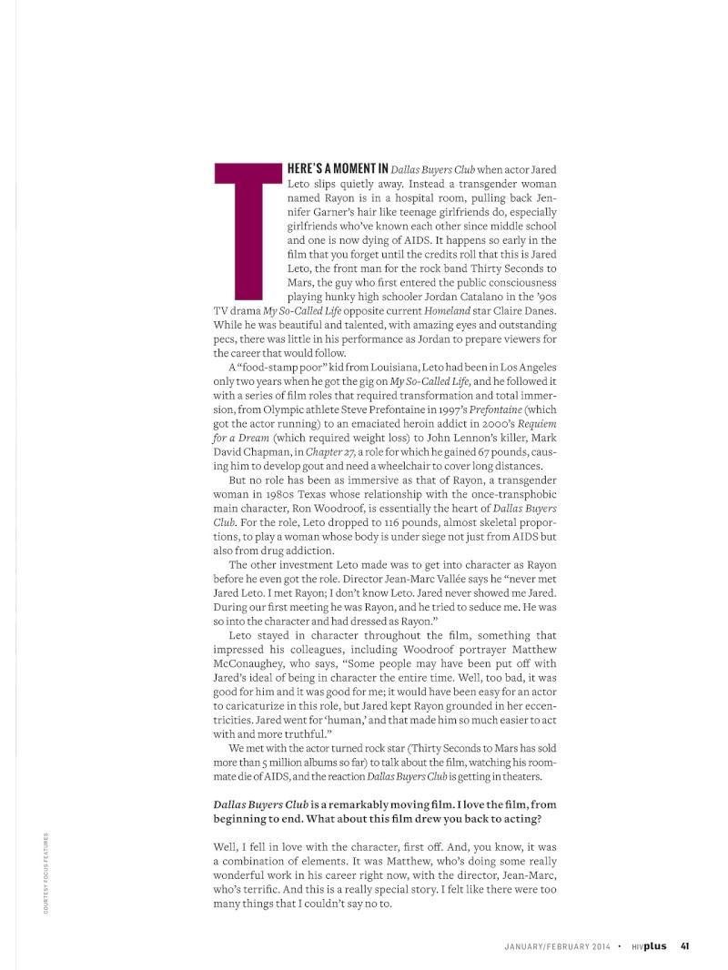 HIV Plus Magazine - janvier/février 2014 Tumblr16