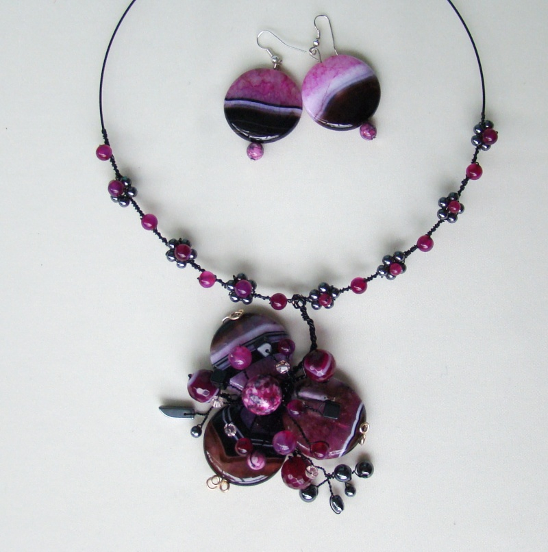"""""""Flori de piatră-Bijoux"""" albumul I-bijuterii artizanale marca Didina Sava - Pagina 18 Colie144"""