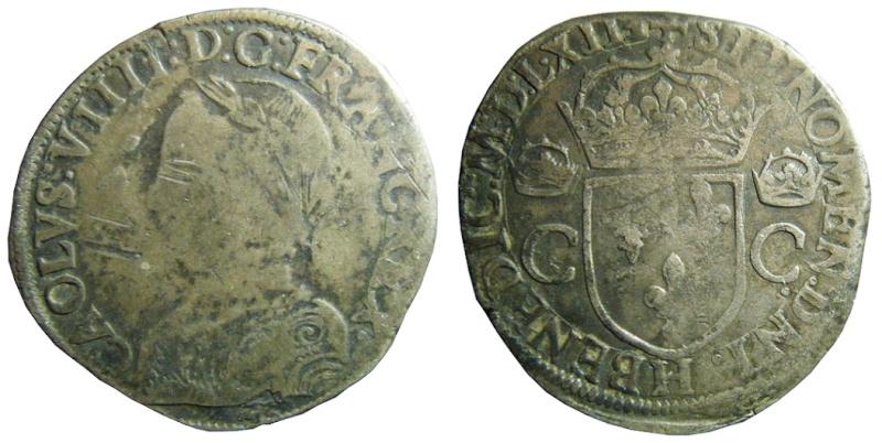 Teston (2ème type) Charles IX fauté ?  Charle11