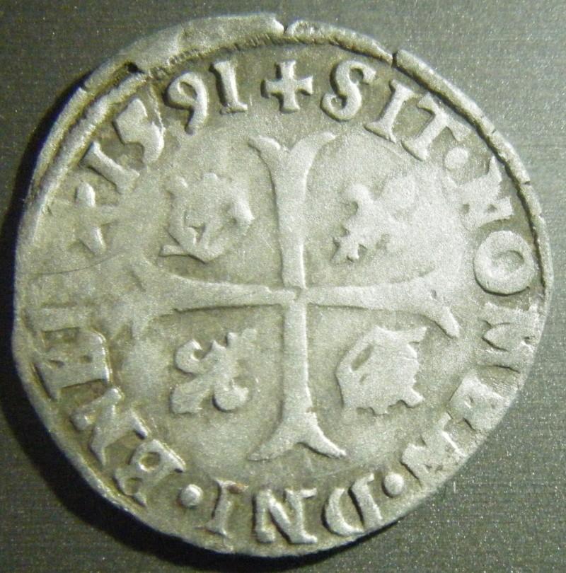 Douzain Henri IV - 1591 atelier Limoges Dscf3611