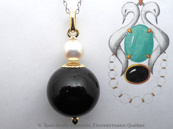 Boule onyx 20 mm et perle Akoya 8,4 mm sur or Dscn0515
