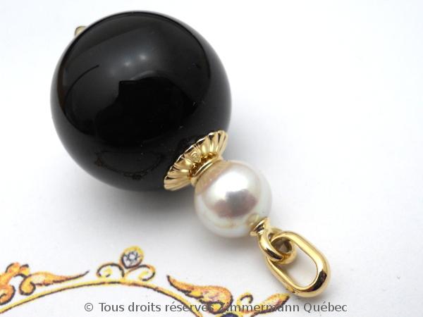 Boule onyx 20 mm et perle Akoya 8,4 mm sur or Dscn0519