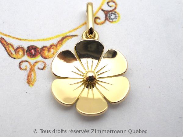 Une fleur en or 18 K toute simple Dscn1022
