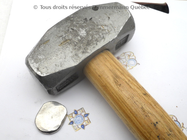 Une vidéo non prévu sur la refonte en surface d,un lingot de platine ( 54 grammes ) Dscn3823