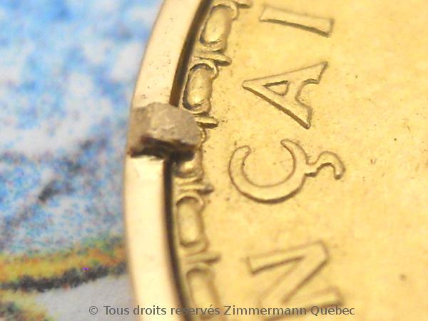 Napoléon Or 20 Francs Marianne Coq 1909 monté en pendentif or rose 18 K Dscn4611
