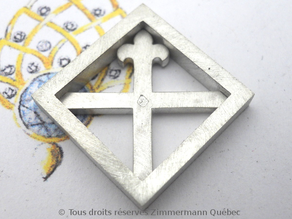 Un pendentif argent et or pour homme Dscn5524