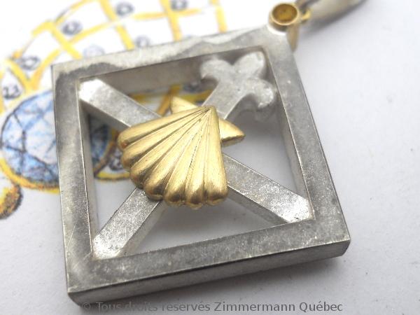 Un pendentif argent et or pour homme Dscn5530