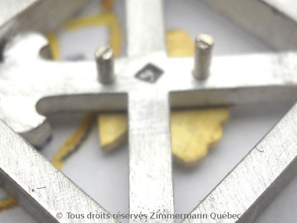 Un pendentif argent et or pour homme Dscn5533