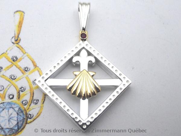 Un pendentif argent et or pour homme Dscn5534
