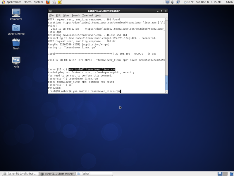 Guide install TeamViewer on Centos 210
