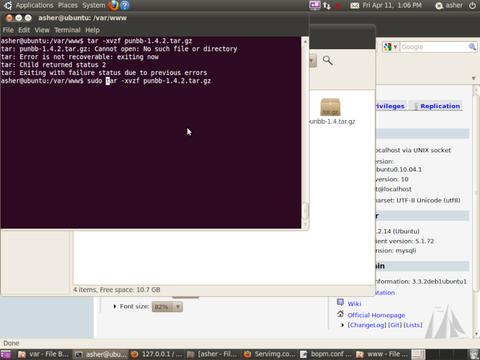 Guide install PunBB on ubuntu