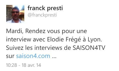Elodie Frégé en interview pour Saison4tv (22 avril 2014) 10264310